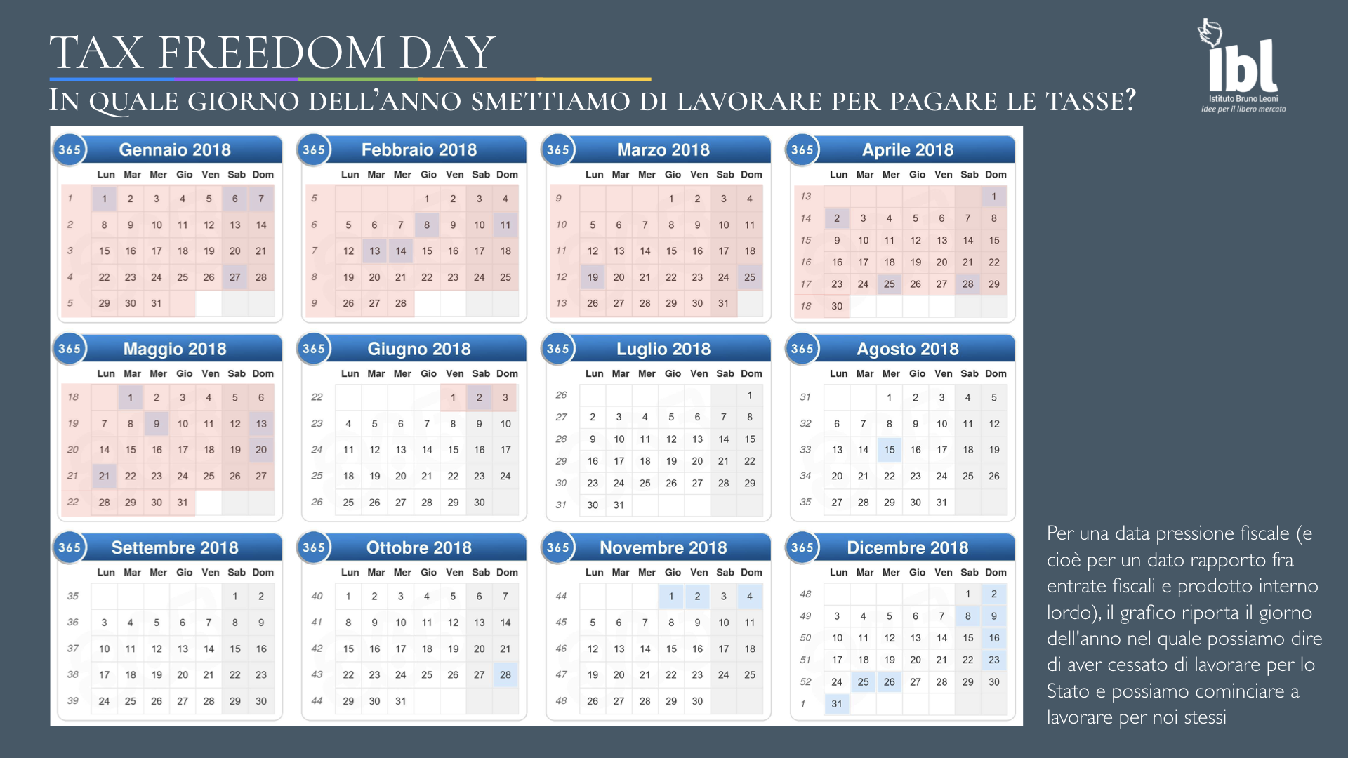 Tax Freedom Day Calendario